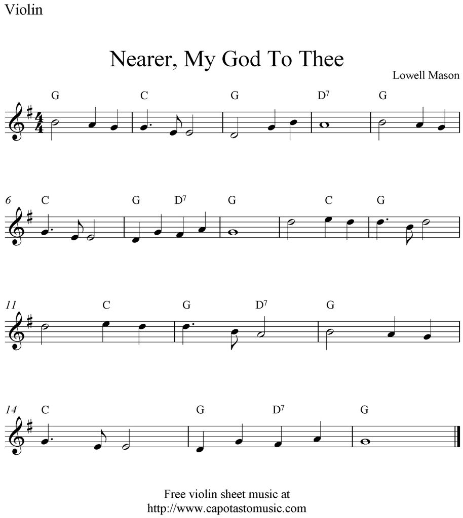 Nearer My God To Thee For Violin Musica Musica Y Partituras