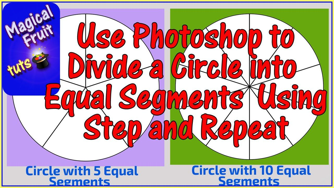 Divide a circle into equal segments using step