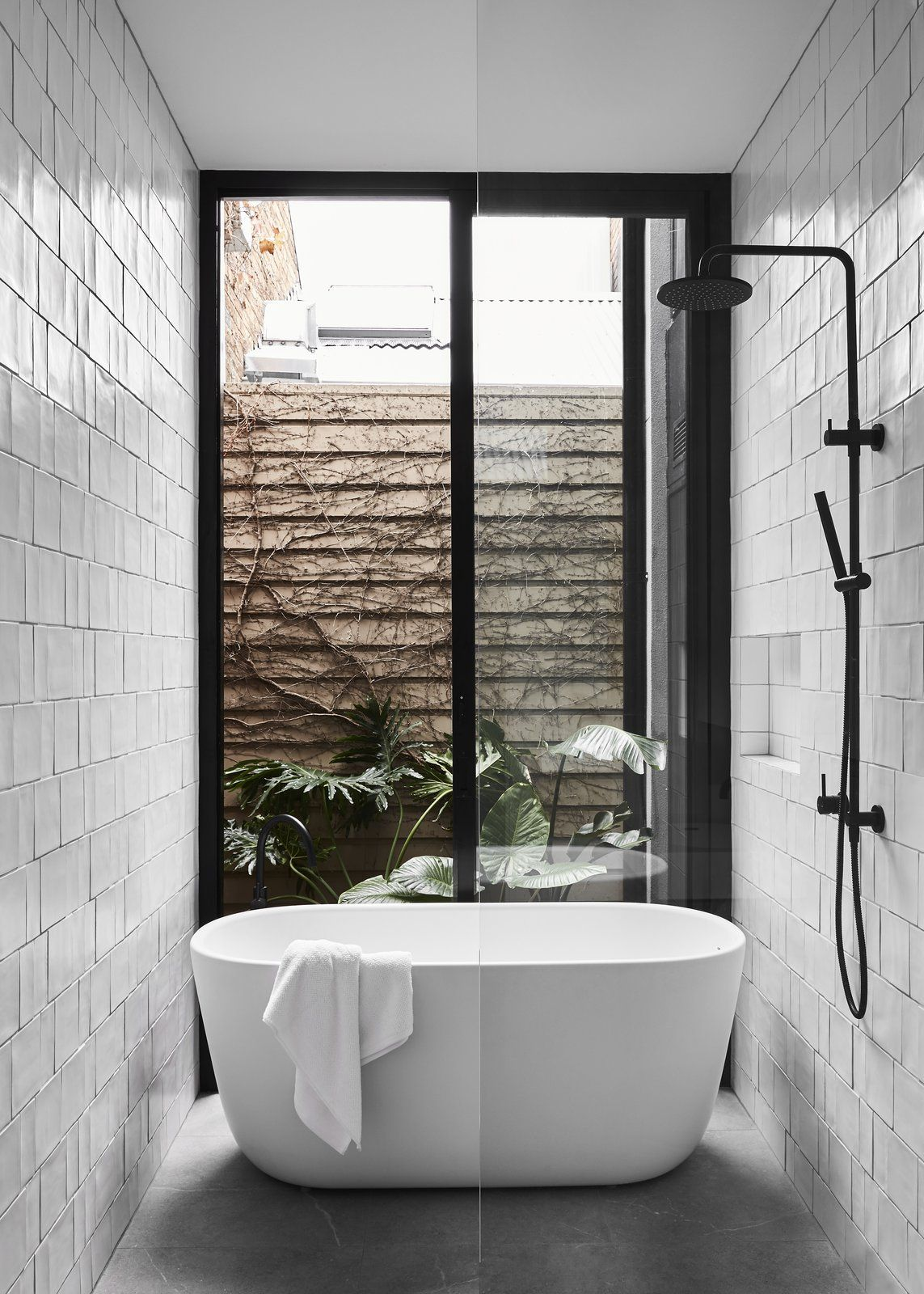 Dwell A Historic Melbourne Home Is Respectfully Modernized For A Young Family Bathroom Freestanding Melbourne House Modern Bathroom Design