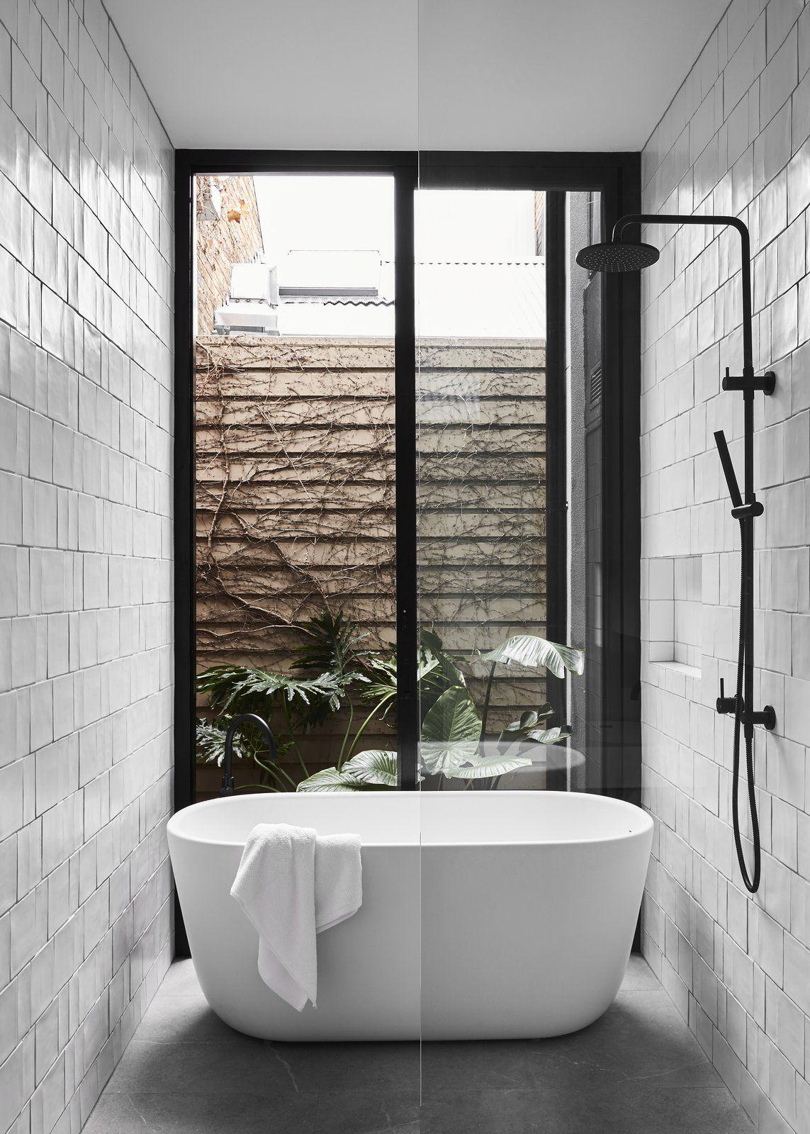 Photo 14 Of 19 In A Historic Melbourne Home Is Respectfully Bathroom Freestanding Modern Bathroom Design Bathroom Interior Design