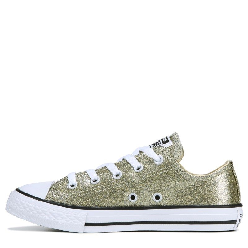 9583c0ab77ce Converse Kids  Chuck Taylor All Star Low Top Sneakers (Gold Glitter)