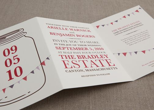wedding invitations - homegrown judaica trifold | w r a p i t,
