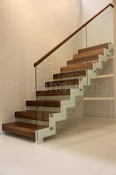 Holz Handlauf Glas Railling Interne Treppen Wohn Metall Treppen