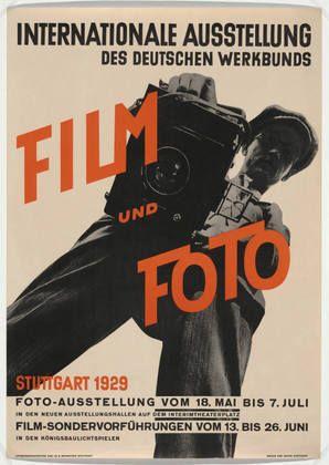 """Unkn Graph Art/des - German. """"FILM UND FOTO."""" (International Exhibition of the German Industrial Confederation, Stuttgart 1929). 1929"""