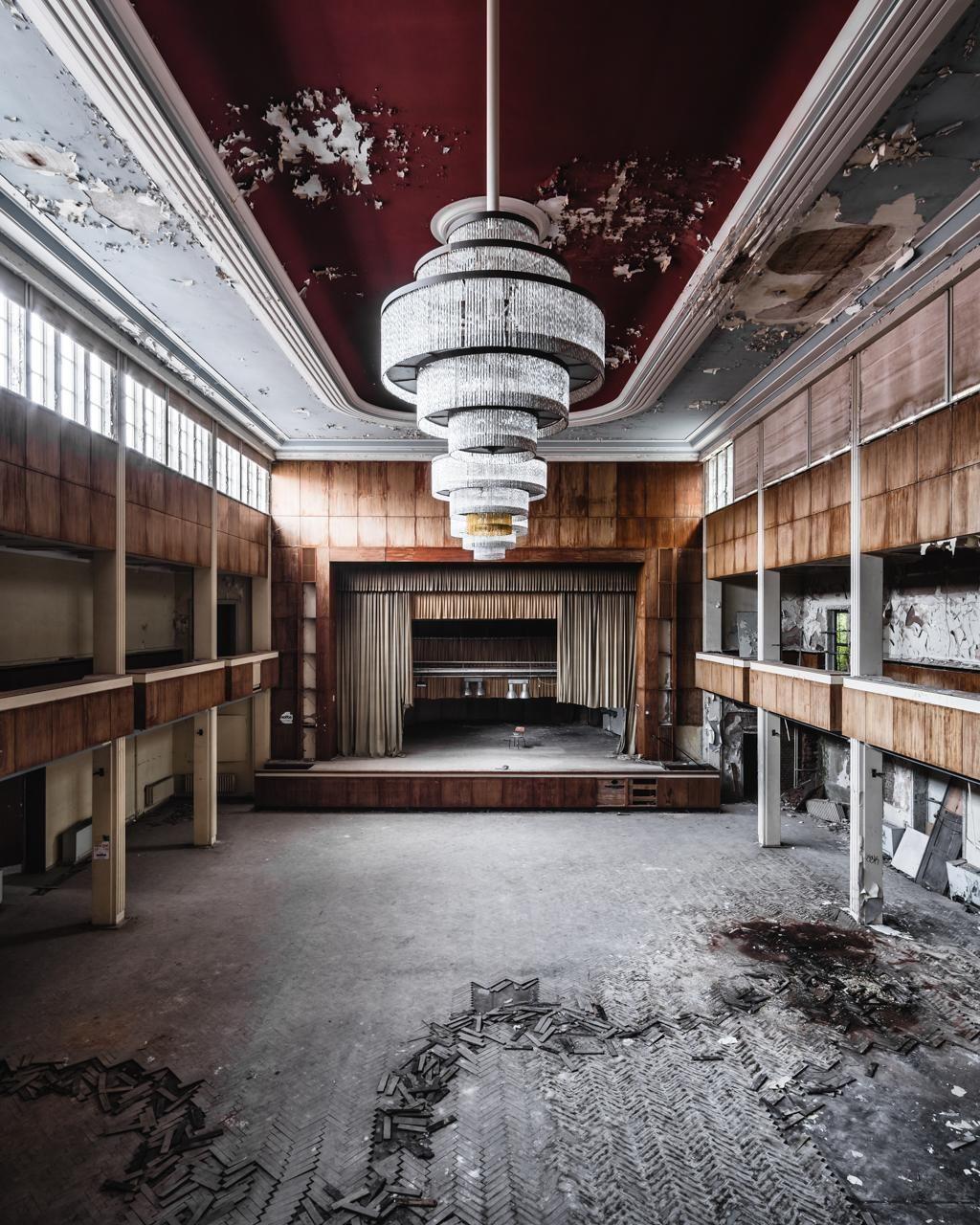 Ballroom Of Abandoned Hotel In Germany 1024x1280 Oc