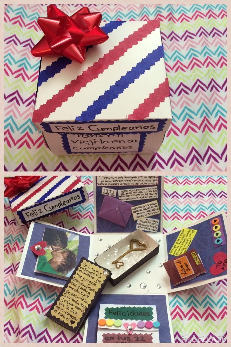 Caja Explosiva Que Puedes Hacer Fácilmente Con Cartulina Papeles De Colores Y Un Poco De Imaginación Perfect Diy Gift Box Boyfriend Crafts Valentine Projects