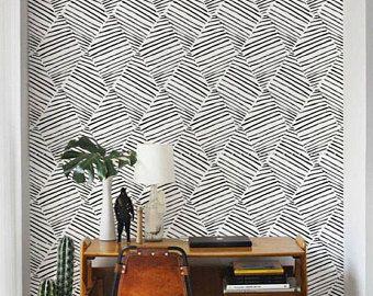 Monochrome Wallpaper Black And White Removable Wallpaper Self Adhesive Wallpaper Aztec Pattern Wall Covering 120 Self Adhesive Wallpaper Wall Wallpaper Removable Wallpaper
