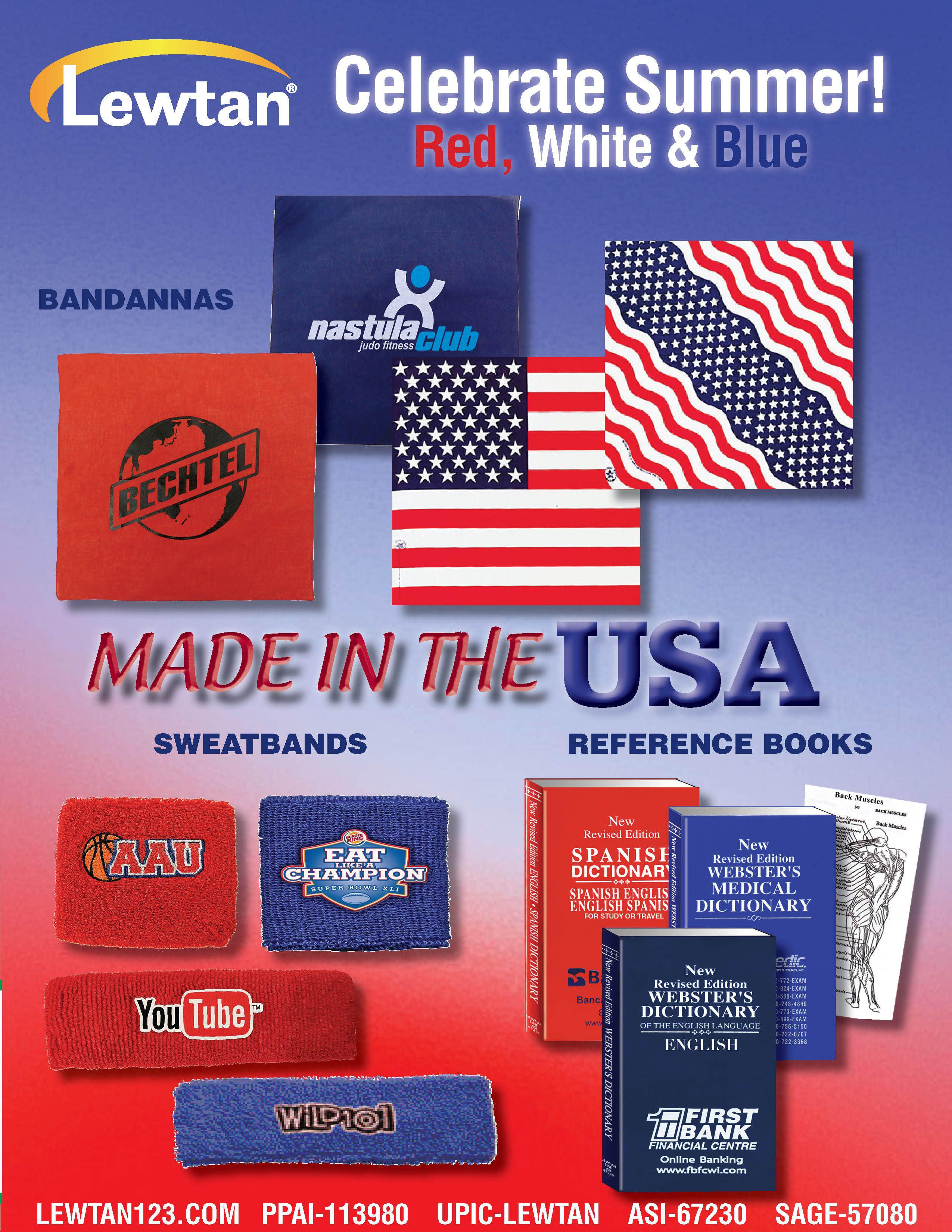 MADE IN THE USA. Celebrate Summer. Liven up any event.