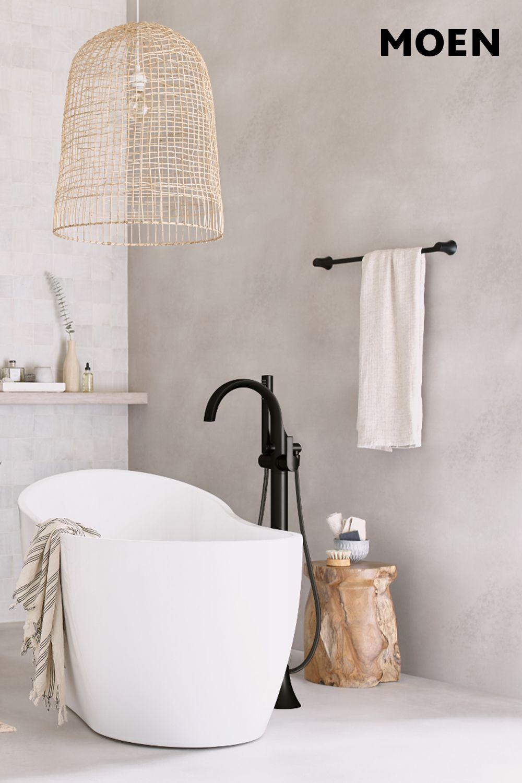 Doux Matte Black One Handle Tub Filler Includes Hand Shower Tub