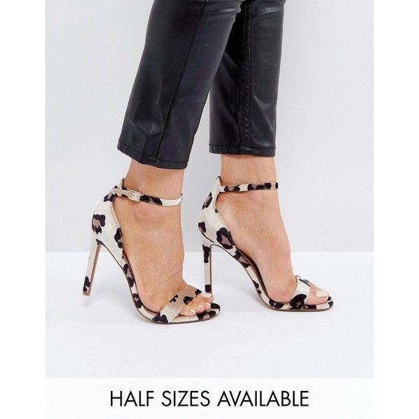 asos leopard sandals