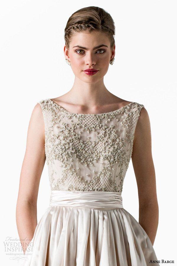 Anne Barge Spring 2015 Wedding Dresses | Anne barge, Bateau neckline ...