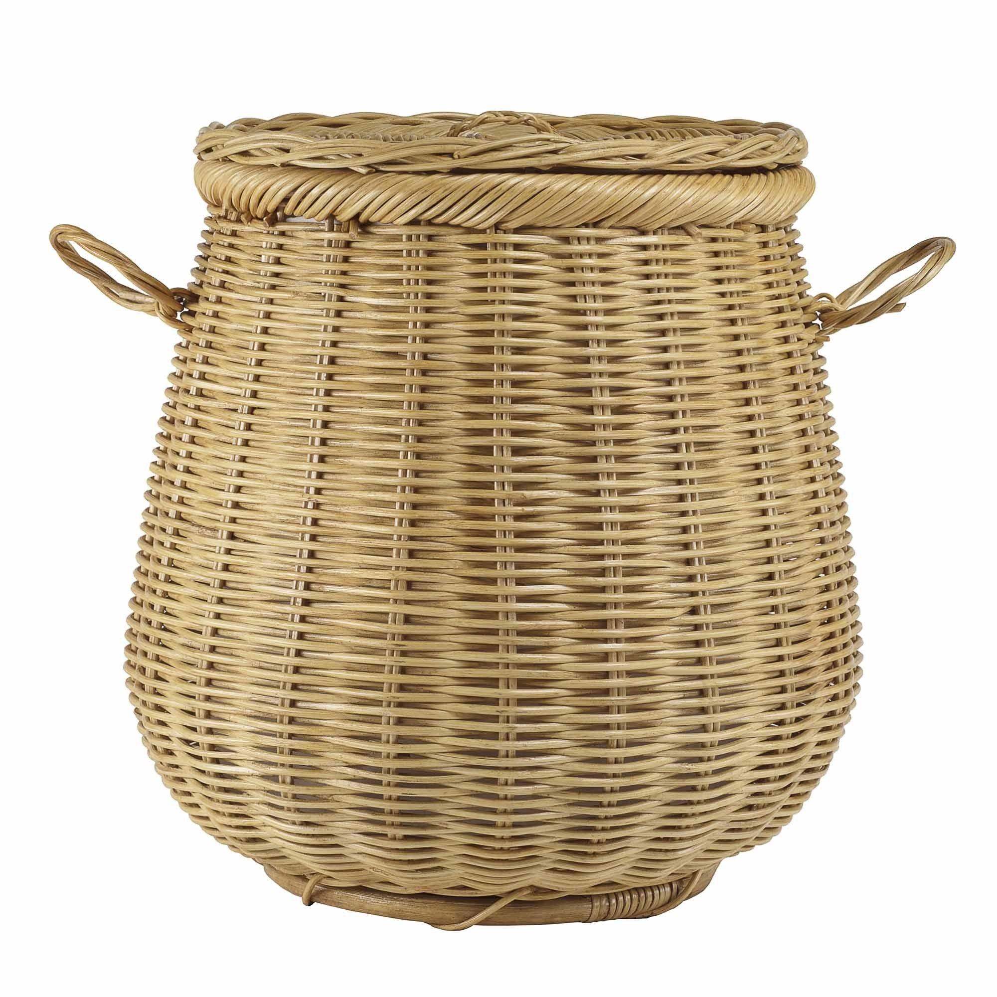 wonderful wicker laundry basket with lid