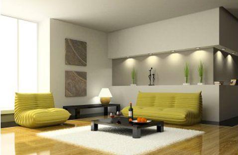 deco-salon-la-bonne-position-pour-le-canape Salons, Design trends - deco salon rouge et blanc