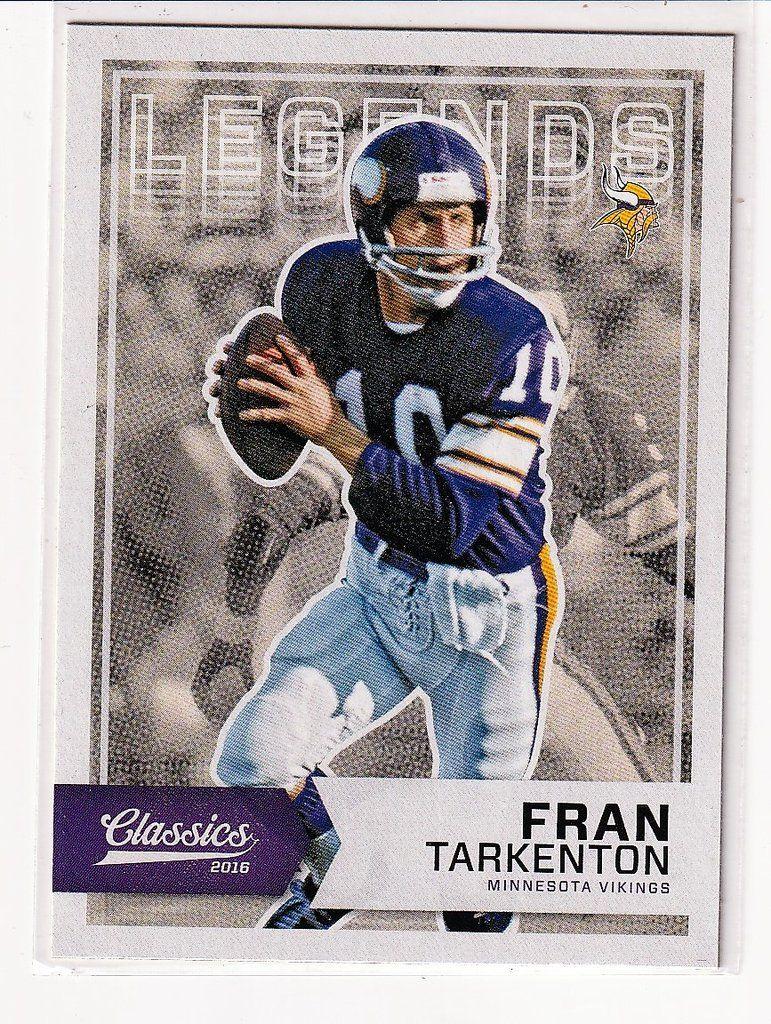 Football Sports Cards Fran Tarkenton Football cards