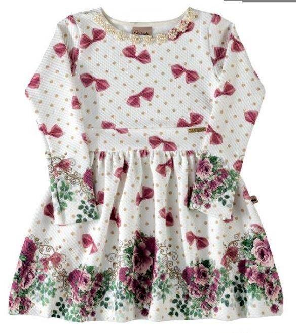 Vestido de Laços e Flores Encanto