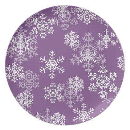 Plastic Plate-Christmas Snowflakes Melamine Plate - kitchen gifts diy ideas decor special unique inidual customized  sc 1 st  Pinterest & Plastic Plate-Christmas Snowflakes Melamine Plate | Plastic plates