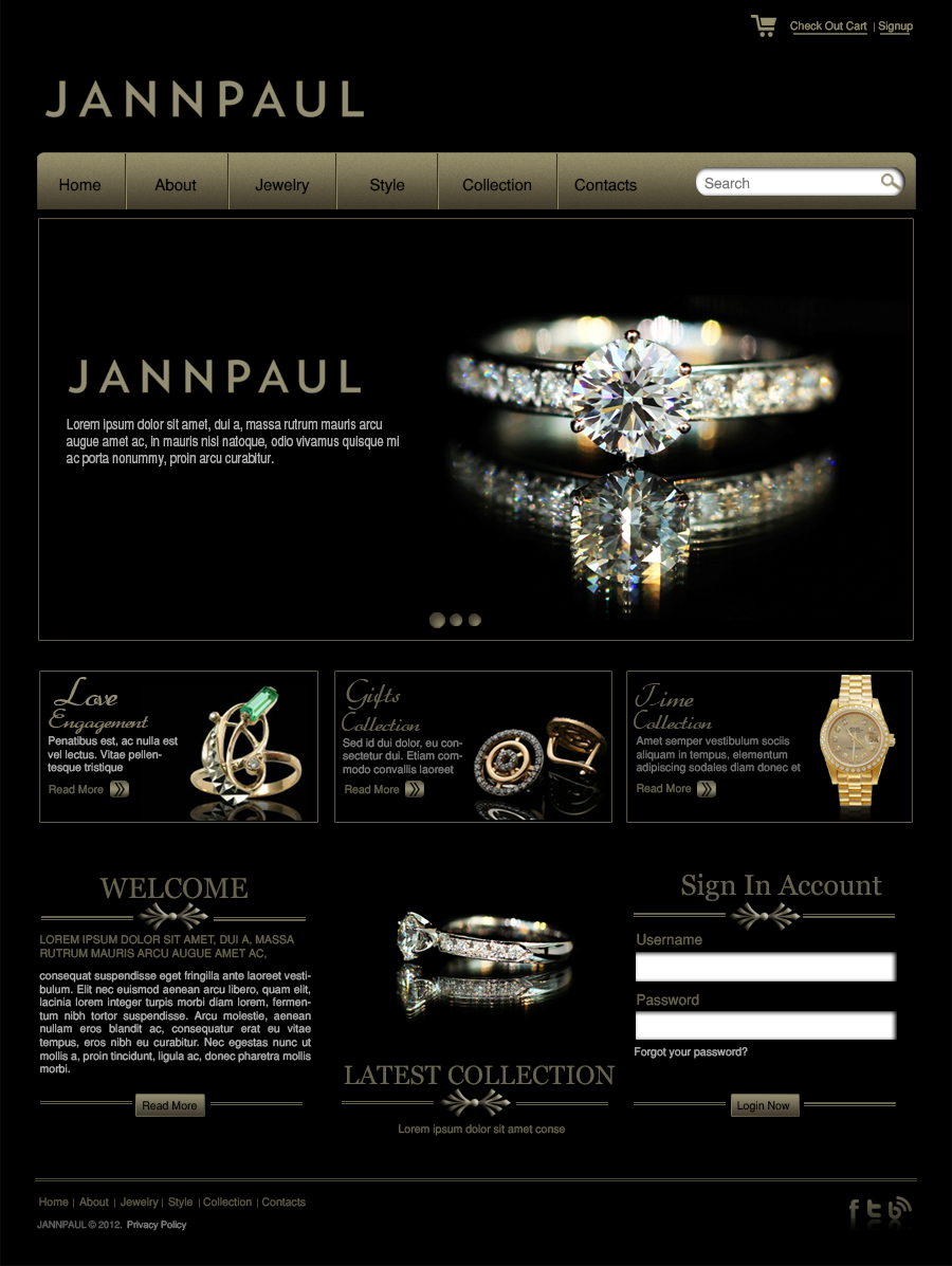 jewellery web template skay graphics web design templates