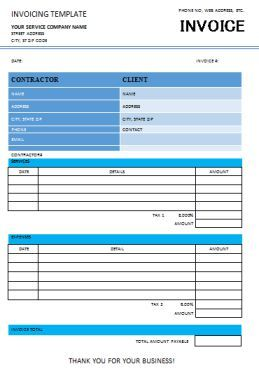 Independent Contractor Invoice Template  Independent Contractor