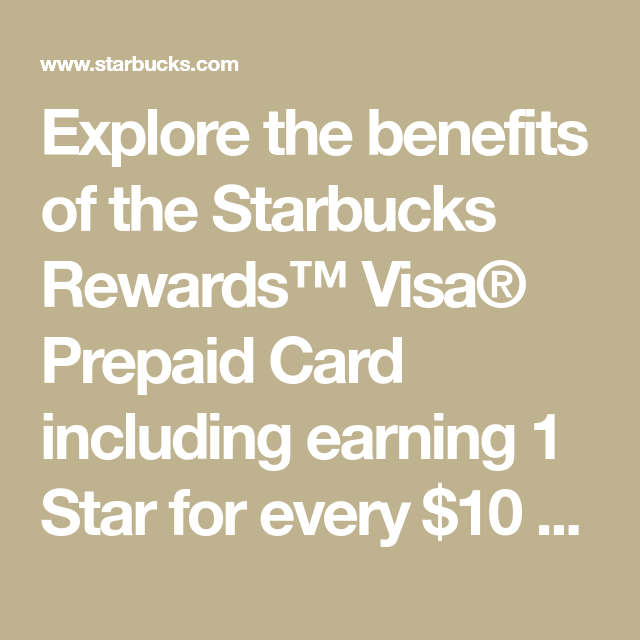Explore The Benefits Of The Starbucks Rewards™ Visa