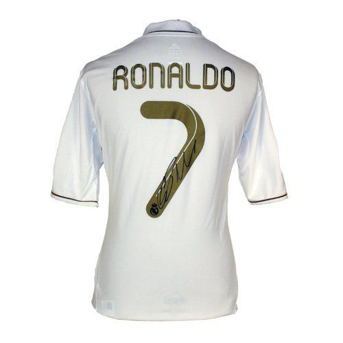 Cristiano Ronaldo Signed Real Madrid Jersey By Icons 599 99 This Real Madrid Home Shirt Was Personally Signed By Real Madrid Shirt Ronaldo World Soccer Shop