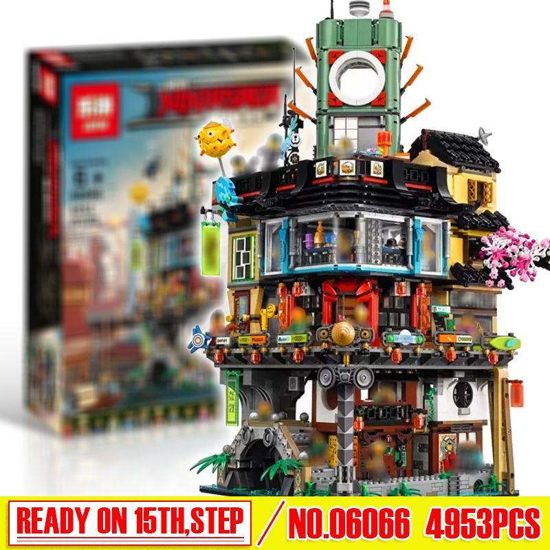 New Arrival 4867pcs Lepin 06066 Ninjago City Masters Of Spinjitzu