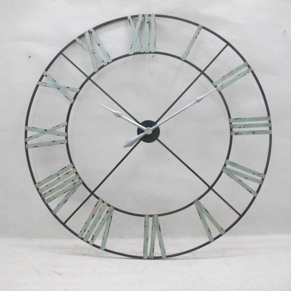 Extra Large Vintage Metal Wall Clock House Of Choice