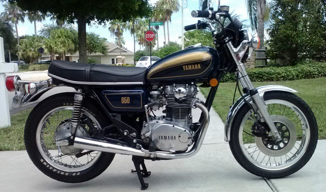 the yamaha xs650 is a well known classic medium displacement