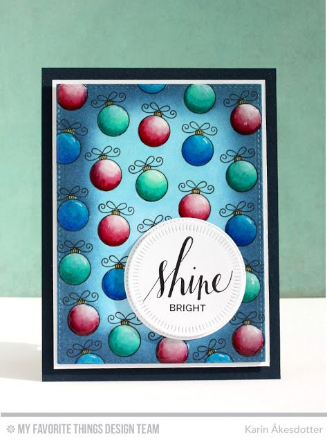 Hand Lettered Holiday, Santa's Elves, Radial Stitch Circle STAX Die-namics - Karin Åkesdotter   #mftstamps