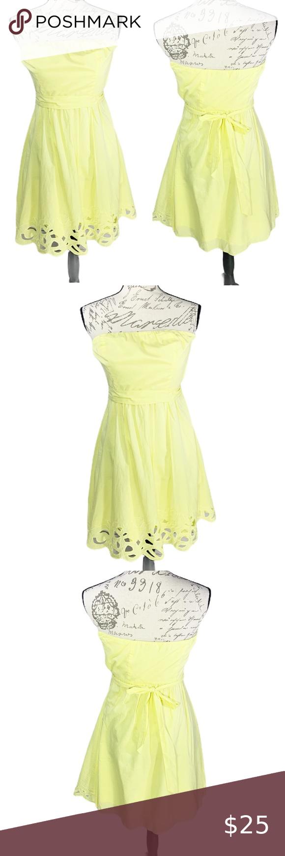 The Limited Bright Yellow Strapless Dress Sz 2 In 2020 Cute Yellow Dresses Yellow Strapless Dress Strapless Dress [ 1740 x 580 Pixel ]