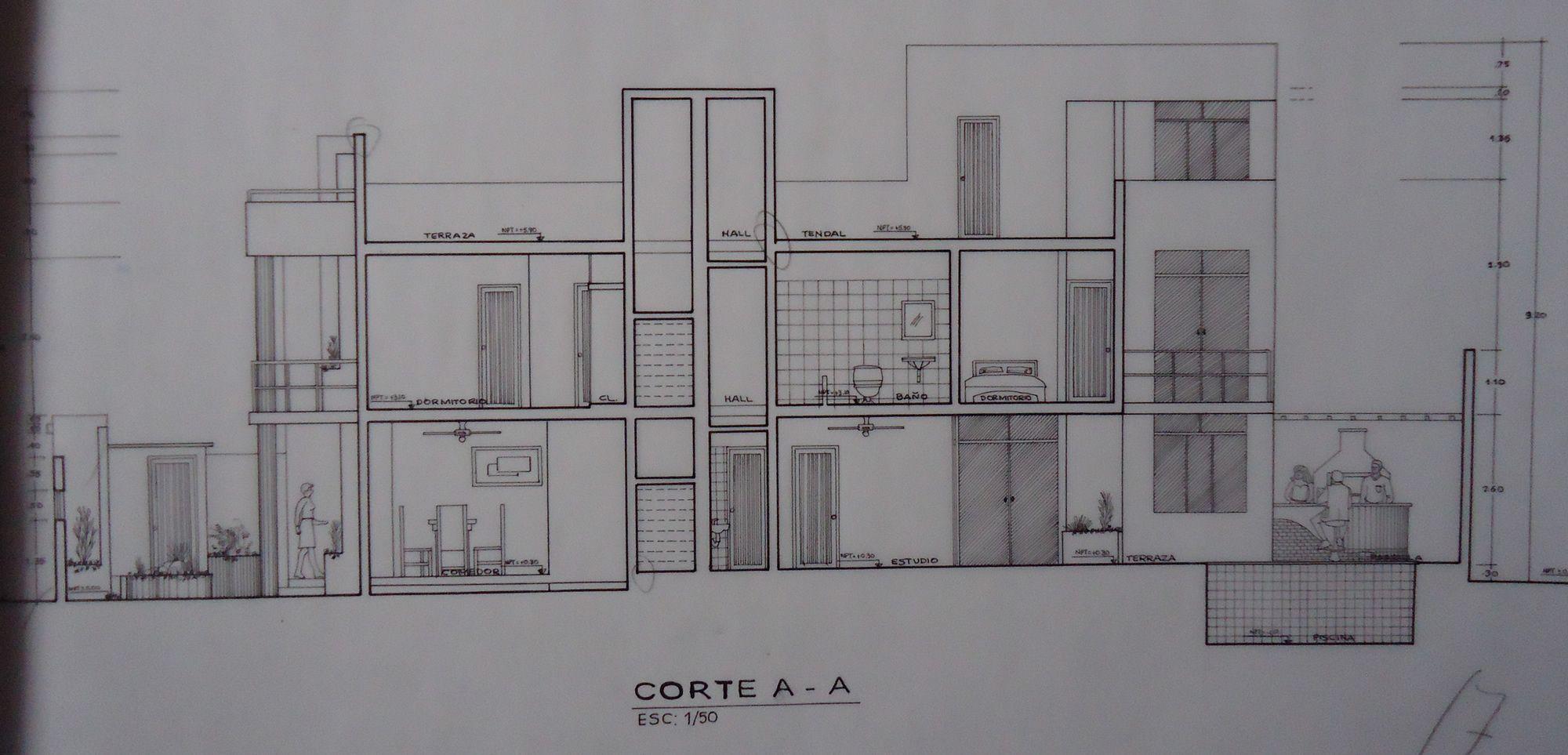 Cortes arquitectonicos de escaleras buscar con google for Cortes arquitectonicos