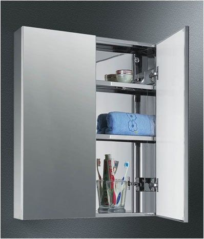Ketcham Dd 2326 S S 23 X 26 Dual Door Polished Edge Mirror Medicine Cabinet At Bluebath Com Medicine Cabinet Mirror Recessed Cabinet Doors
