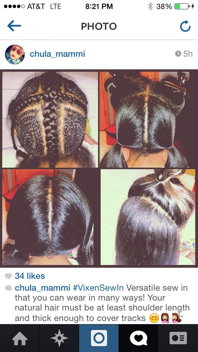 Vixen Sew In This Is A Great Idea Looks Alot More Natural And I