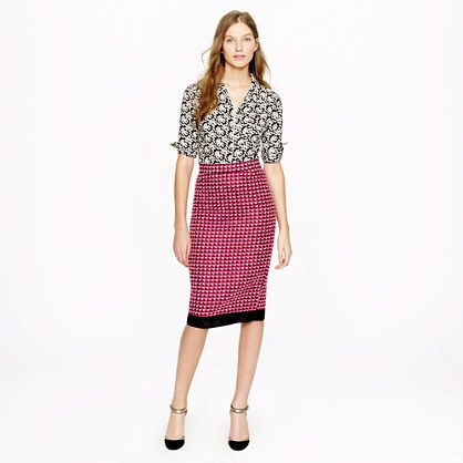 81abc372b3 jcrew red tweed pencil skirt. love! J Crew Collection pencil skirt in pink  ...