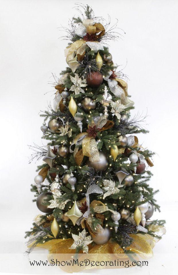 Show Me a Precious Metal Mix Christmas Tree Theme Diy christmas - christmas decorations diy