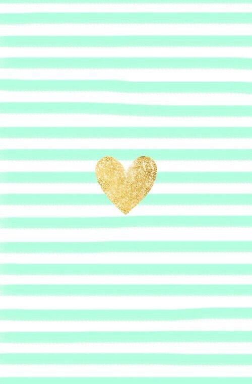 Imagen De Heart Wallpaper And Gold Mint Green Wallpaper Iphone Iphone Background Glitter Gold Wallpaper Iphone
