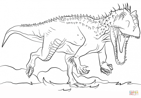 Indominus Rex Jurassic Park Coloring Page Dinosaur Coloring Pages Dinosaur Coloring Dinosaur Pictures