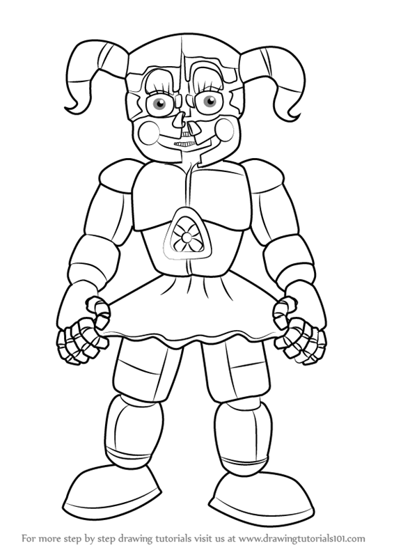 Learn How To Draw Circus Baby From Five Nights At Freddy S Five Nights At Freddy S St Fnaf Coloring Pages Valentines Day Coloring Page Monster Coloring Pages