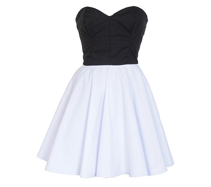 Black & White 50s Style Party Prom Dress | Style Icon`s Closet ...