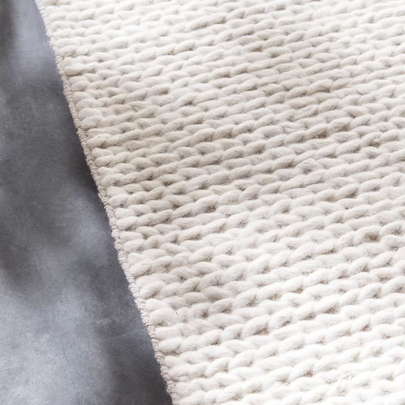 Arviso Hand Braided Wool Ivory Rug White Area Rug Ivory Rug Rugs On Carpet