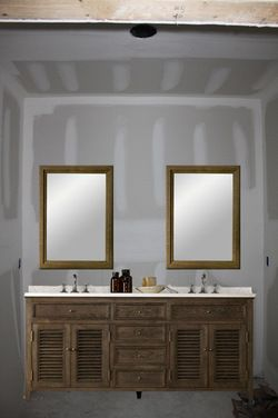 One Large Mirror Or Two Individual Mirrors Over Double Vanity Bathroom Mirror Large Bathroom Mirrors Bathroom Mirrors Diy