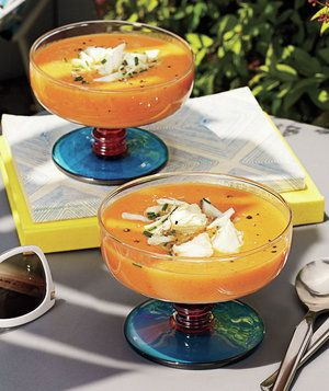 Cold Tomato Soup with Crab | RealSimple.com