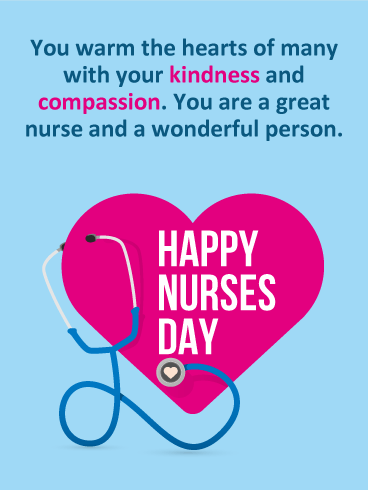 Kindness compassion happy nurses day card nurses week kindness compassion happy nurses day card m4hsunfo Image collections