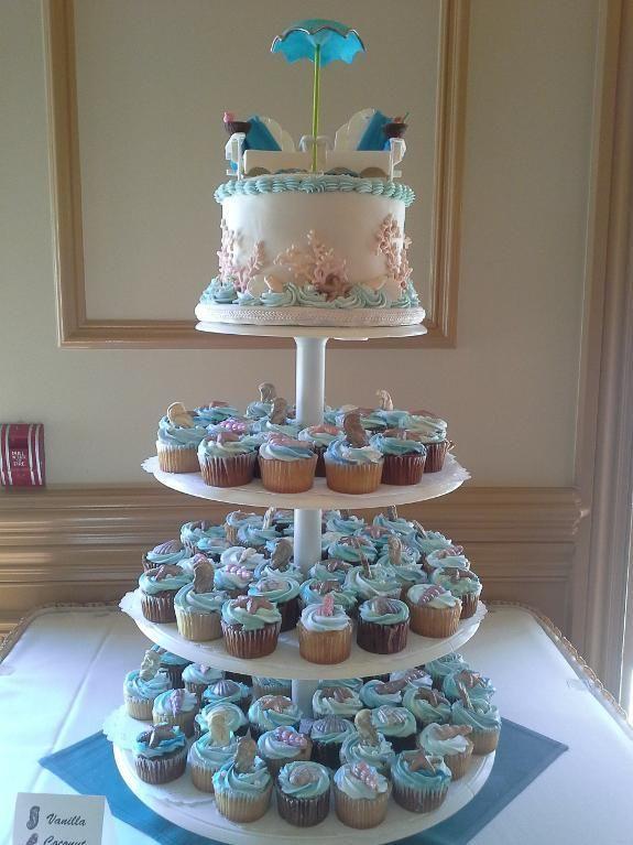 Beach Theme Bridal Shower Ideas Beach Themed Bridal Shower Cake