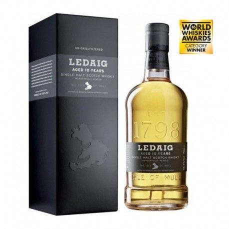El whisky de malta Ledaig ha sido elaborado por la única destilería que hay en la isla de Mull, Tobermory. Con un carácter suave, fresco y dulce.Tiene numerosos premios. En 2016 ha sido el Ganador en la categoría Islands Single Malt 12 Years and Under por World Whiskies Awards.