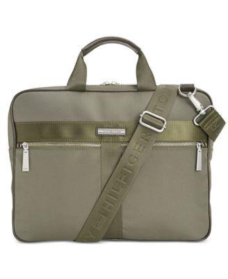 TOMMY HILFIGER Tommy Hilfiger Darren Slim Briefcase. #tommyhilfiger #bags #shoulder bags #hand bags #polyester #leather #