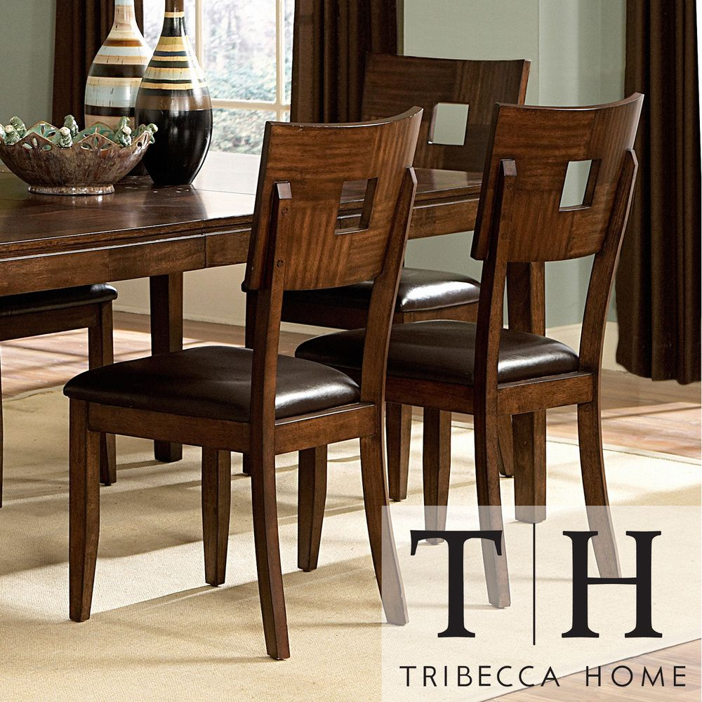 Tribecca Home Watson Open Back Casual Dining Chairs (Set