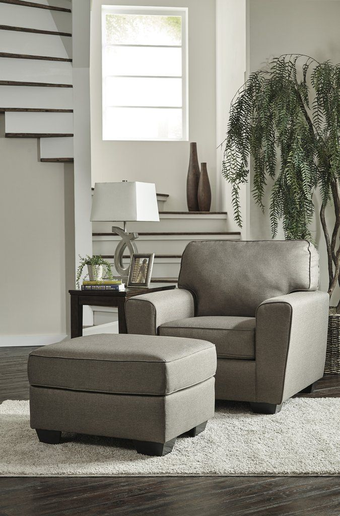 calicho contemporary cashmere color fabric chair and ottoman