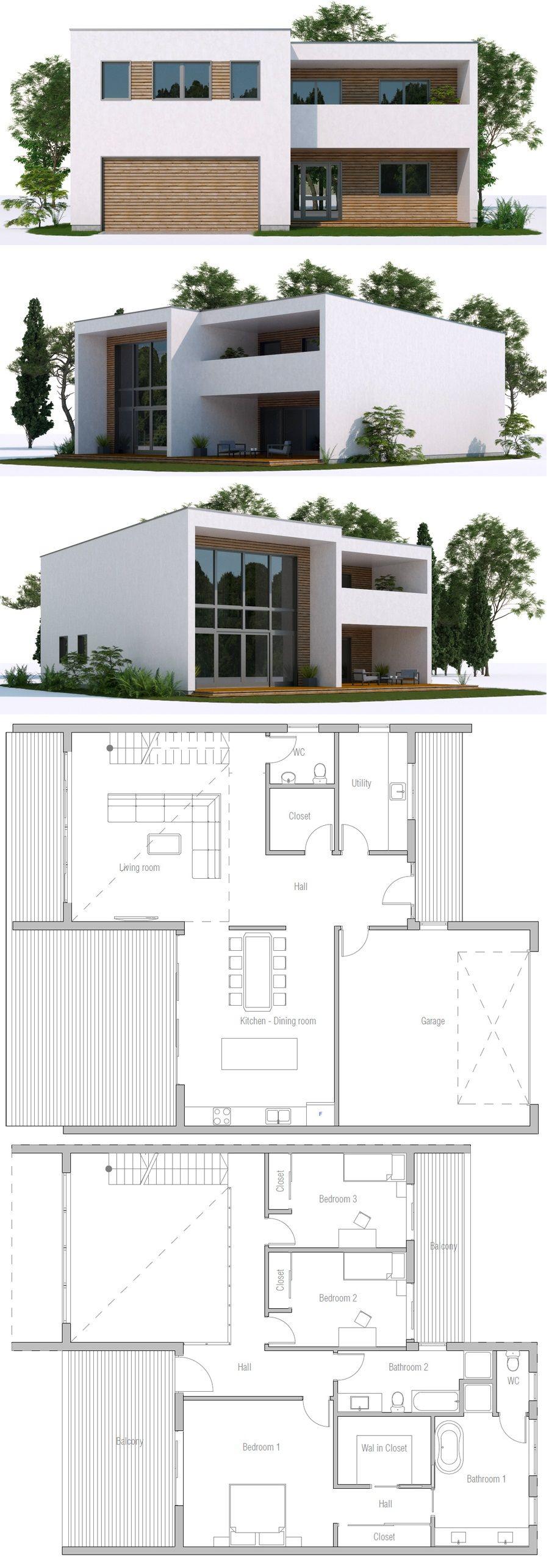 Modern Minimalist House Plan Contemporary Home Plan Modernhousedesign Modernhouseplans Modern Minimalist House Modern House Design Contemporary House Design