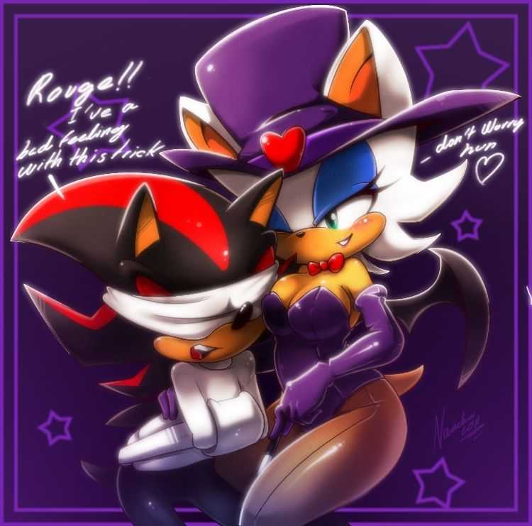 Shadow And Rouge +magic Trick+ By Nancher.deviantart.com