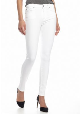 7 For All Mankind Clean White Contour Waistband Skinny Jean ... 756eb1552e